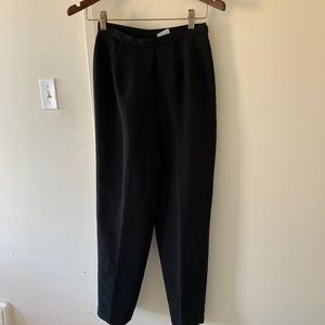 Vintage Pants & Jumpsuits - Vintage women  High waist black dress pants 25